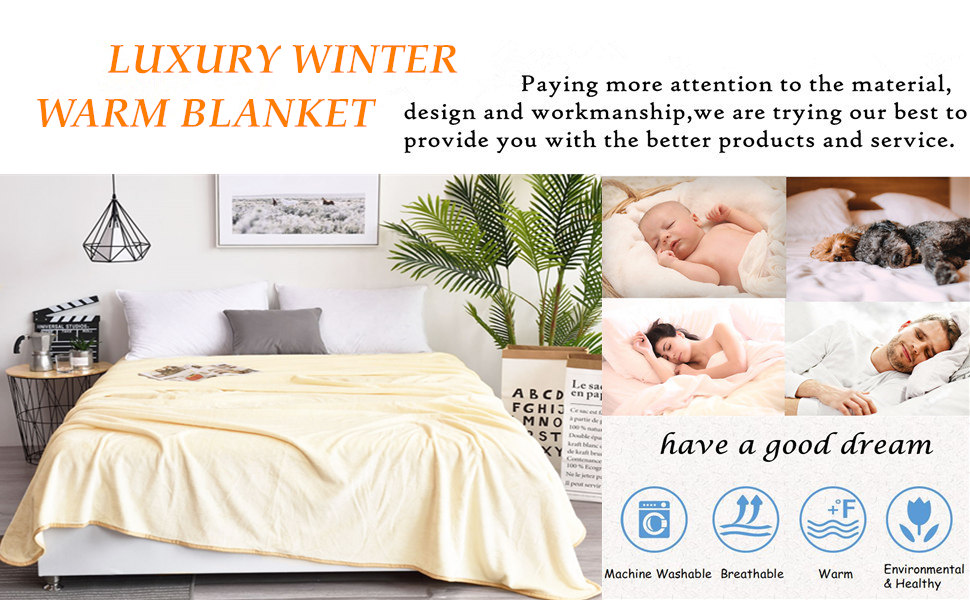 DREAMFLYLIFE fleece blanket is suitable for all seasons, it is soft, warm, breathable and cozy.