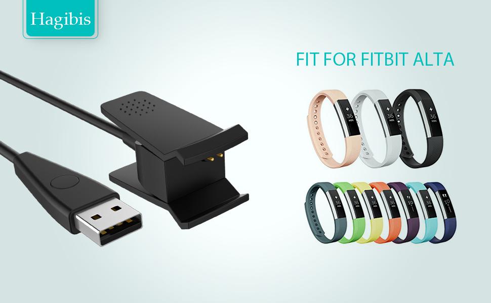 Amazon.com: Fitbit Alta Charger——Hagibis Black Replacement