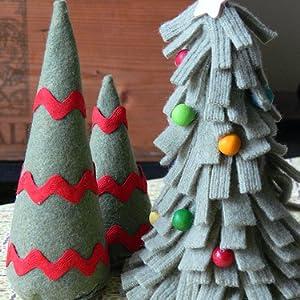 Christmas tree felt crafts
