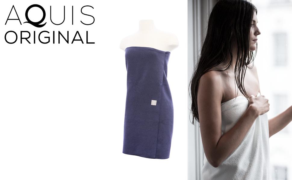 AQUIS Original Lisse Body Towel, Ultra Absorbent amp; Fast Drying Microfiber Towel