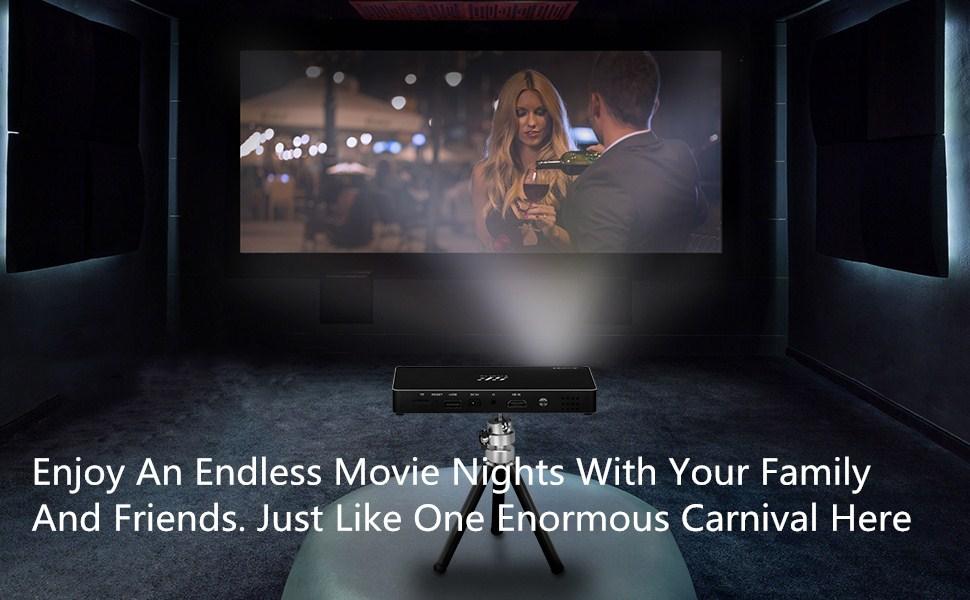 Amazon portable dlp mini projector siroflo multimedia home