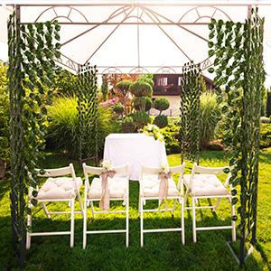 artificial leaves wedding garland greenery flower decorations fake vines green leaf garlands