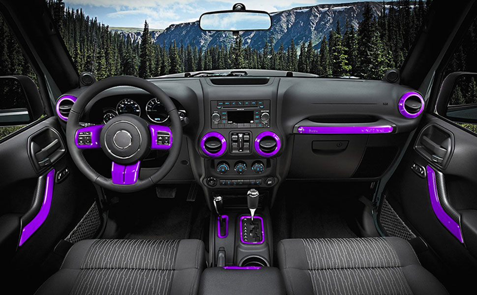 amazon e cowlboy 18 pcs full set interior decoration trim kit 2015 Jeep Wrangler Chrome Parts looking for good interior decoration for your jeep wrangler e cowlboy 18 pcs full set interior decoration trim kit is just what you need