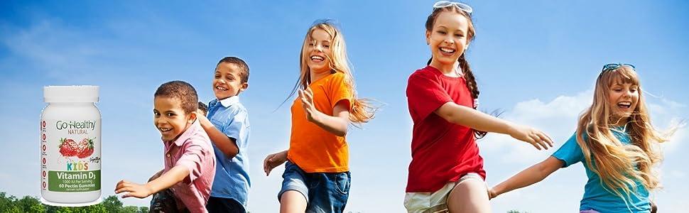 Vitamin D Go Healthy Kids Gummies Gummy Gummi Natural Children Kosher Halal Vegetarian Teeth Bones
