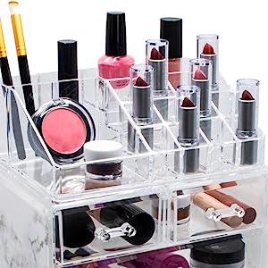makeup organizer top tray