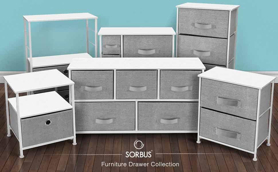 Amazon.com: Sorbus - Cómoda con 7 cajones, mueble de ...