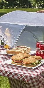 food cover tent umbrellas