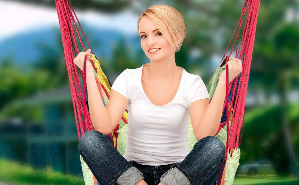 Amazon.com: Sorbus Hanging Rope Hammock Chair Swing Seat