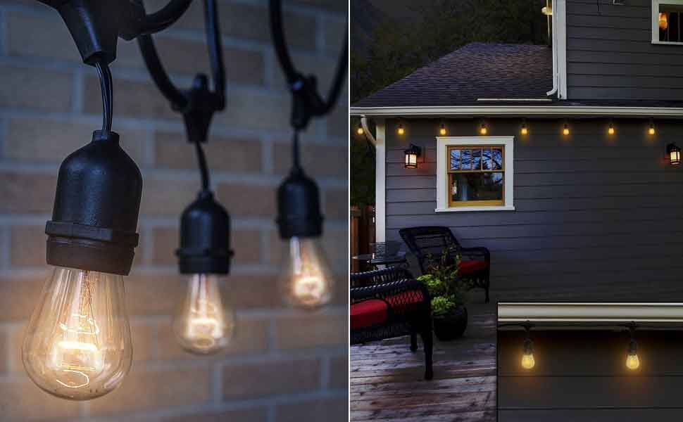 Amazon.com: The Original Outdoor String Lights (48 ft): Home & Kitchen