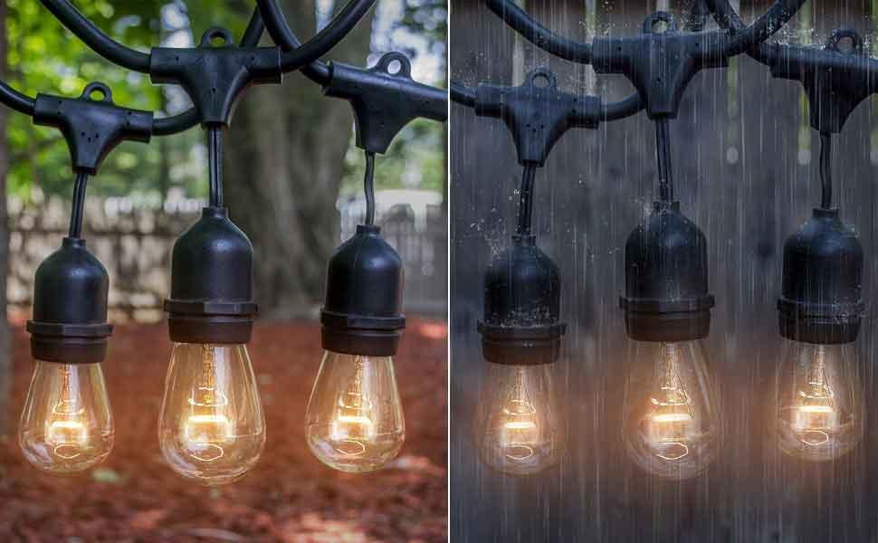 Amazon.com: Outdoor & Indoor Edison Style String Lights ...