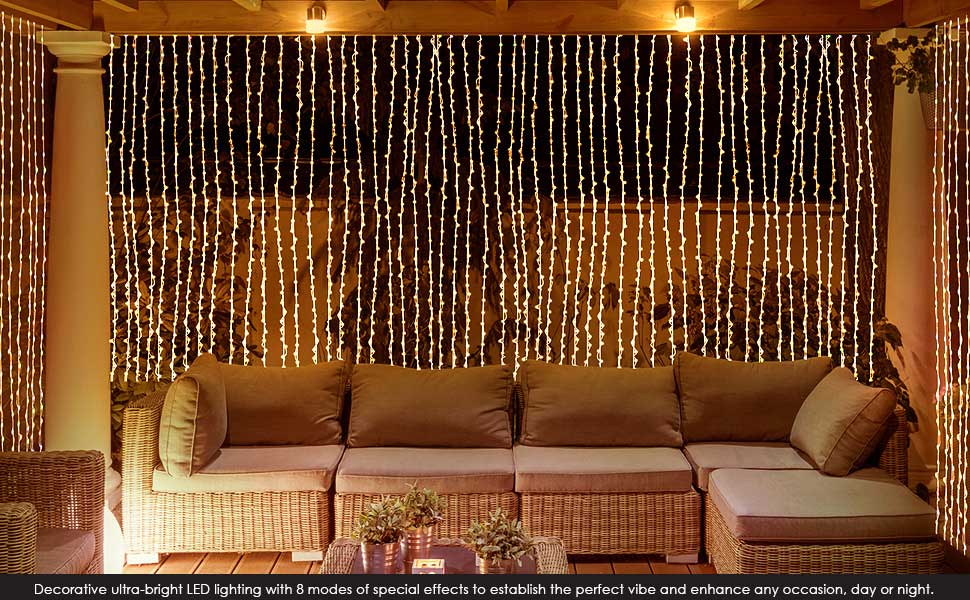 purchase multiple string lights for added lighting and space