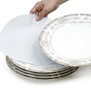 Padded felt protectors cushion and seperate each plate to prevent cracks and scratches.  sc 1 st  Amazon.com & Amazon.com: Sorbus Dinnerware Storage 5-Piece Set for Protecting or ...