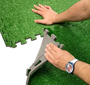 Amazon.com : Sorbus Grass Mat Interlocking Grass Tiles