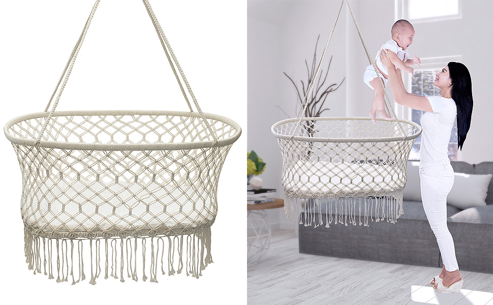 Amazon Com Sorbus Baby Crib Cradle Hanging Bassinet And