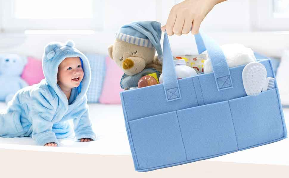 Amazon.com : Sorbus Baby Diaper Caddy Organizer | Nursery Storage ...