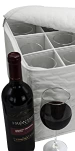wine stemware storage