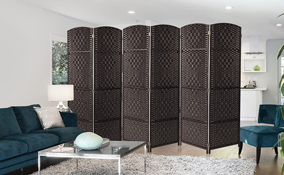 Incredible Sorbus Room Divider Privacy Screen Foldable Panel Partition Wall Divider Room Dividers And Folding Privacy Screens Diamond Double Weaved 6 Panel Ncnpc Chair Design For Home Ncnpcorg