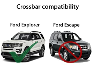 Amazon Com Brightlines 2016 2019 Ford Explorer Cross Bars