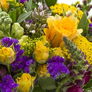 Purple and Yellow Mardi Gras Chichi Party Bouquet