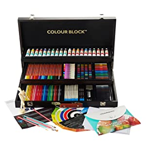 Colour Block 181pc Wood Mixed Media Art Set