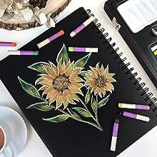 Colour Block Oil Pastels Artwork