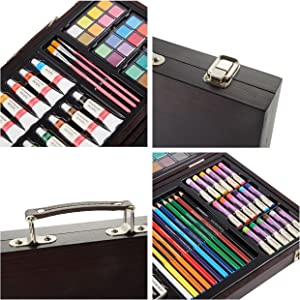 Beginner Art Set Wooden Box for kids and young artists