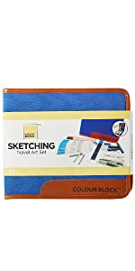 sketching pencil case organized travel carry case