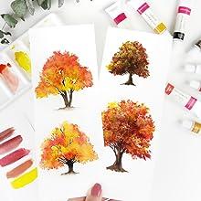 Colour Block Acrylic Paint on Paper