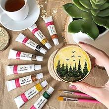 Colour Block Acrylic Paint on Wood