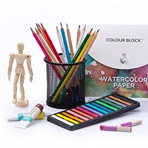 Colour Block 181pc Colored Pencils Pastels Paints
