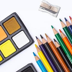 colored pencils watercolor sharpener