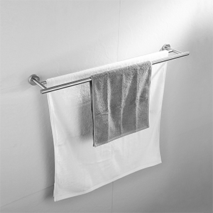 WHITE METAL VINTAGE INSPIRE BATHROOM ENSUITE DOUBLE TOWEL RAIL SOP DISH RING BN