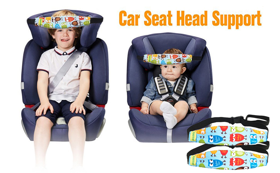 HULISEN 2Pcs Infants And Baby Head Support Band Carseat Straps Covers Slumber Sling Toddler Car Seat