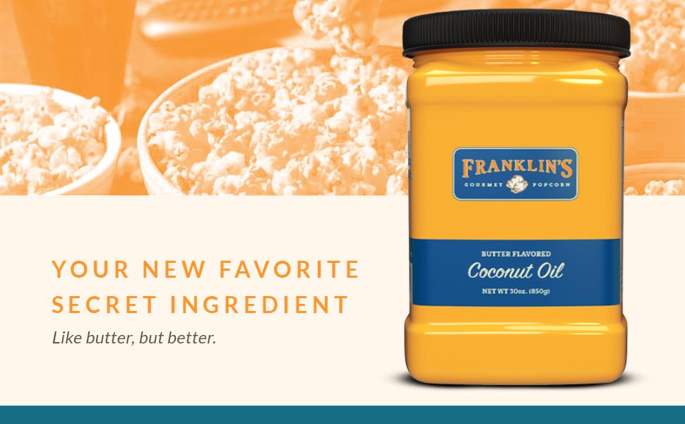 franklins coconut oil butter flavor flavored