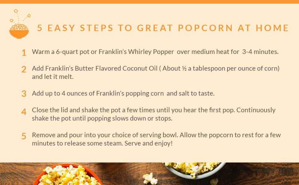 easy popcorn coconut oil butter