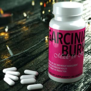 GARCINIA BURN Made for Her Garcinia Cambogia Extract with 50% HCA, 60 Capsules