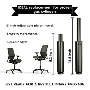 ReplaceYour Office Chair With SunnieDog Gas Lift Pneumatic Hydraulic  Cylinder And Get The Most Out Of Your Purchase With Ultimate Performance,  ...