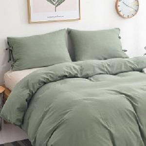 green duvet cover soft