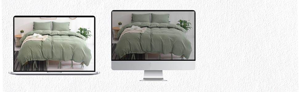 green duvet cover soft bedding