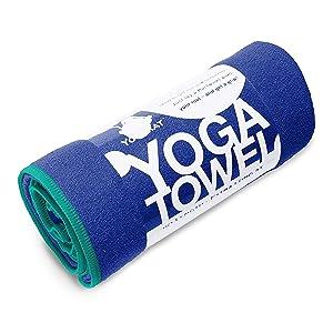 YogaRat Yoga Towel - 100% Microfiber - Multiple Sizes - Non-Slip - Absorbent - Thin - Lightweight Yoga Mat Towels - Yoga Hand Towel Option Available