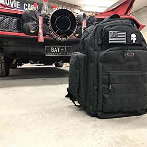 Tactical Diaper Bag Black batmobile punisher morale patch