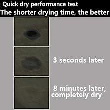 Quick dry performance test
