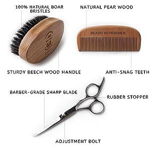 beard brush beard comb beard scissors beard kit beard grooming kit beard care