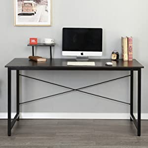 amazon com soges computer desk with shelf 55 1 sturdy office