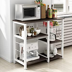 Soges 2 Tier Microwave Oven Stand Storage Cart With Wheel Kitchen Bakeru0027s  Rack