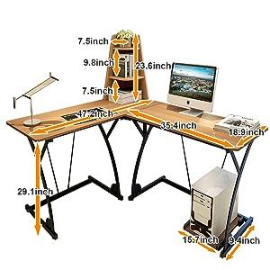 L Shaped Desk Computer Desk Corner Desk Multifunctional
