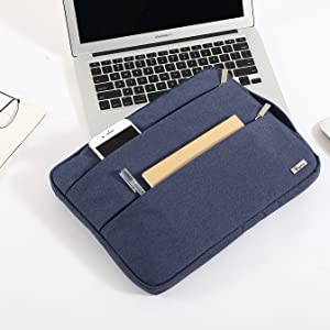 Voova Laptop Sleeve Case 11 11.6 12 Inch with Handle Compatible MacBook Air//Chromebook//IPad pro 12.9//Surface Pro 7 6 // Waterproof Protective Cover Bag 2 Accessory Pockets for women lady girl-Purple