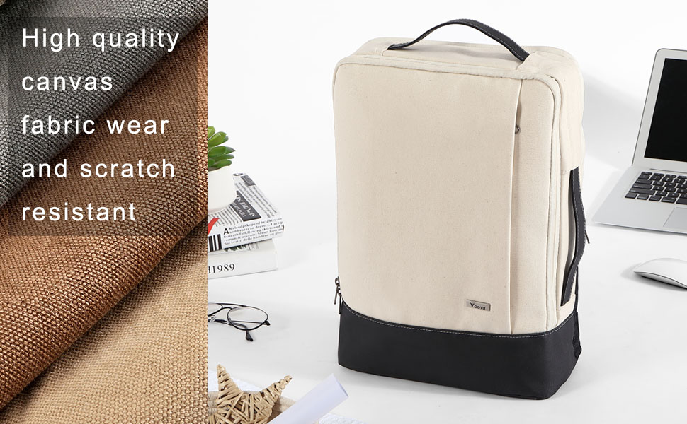 5b7c3b44a5b9 Voova Laptop Backpack Women Men with Handle for Travel Business ...
