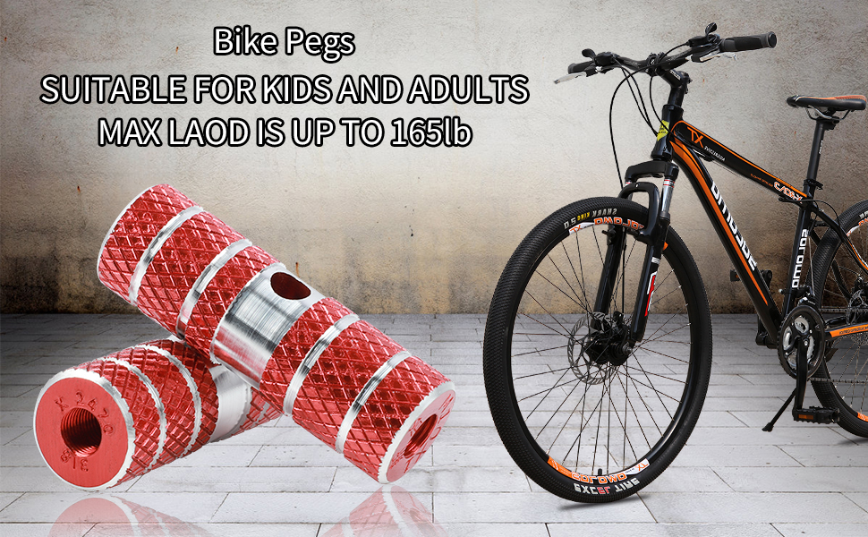 BMX Bicycle Cycle Bike Stunt Pegs Alloy Anodised Colour Wheel  Tyre
