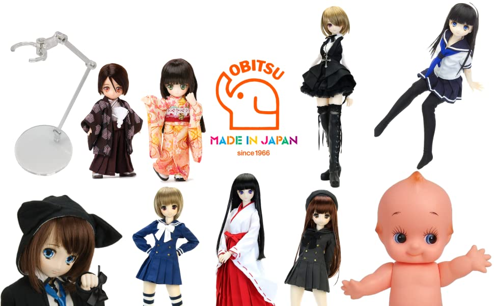 OBITSU BODY ACCESSORY Multi Stand clear set of 10 From Japan